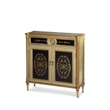 Tall Storage Chest, Gold & Brown