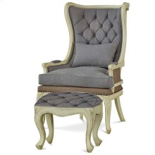 Brittany Wing Chair w/ Tufted Cushion w/ Footstool Set