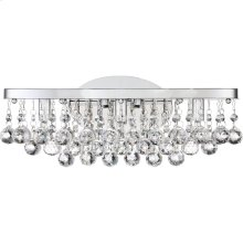 Bordeaux With Clear Crystal Bath Light in Polished Chrome