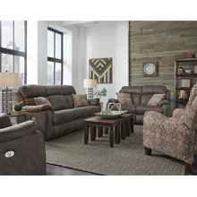 Double Reclining Sofa with Power Headrest Fabric 299-21