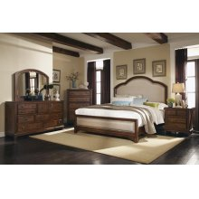Laughton Rustic Brown Upholstered California King Bed