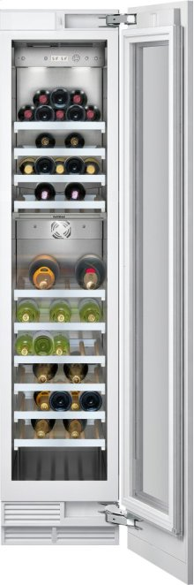 """400 Series Wine Storage Unit Fully Integrated, With Two Temperature Zones Width 18"""" (45.7 Cm)"""