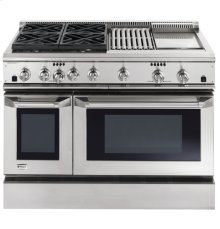 "GE Monogram® 48"" Dual-Fuel Professional Range with 4 Burners, Grill, and Griddle (Liquid Propane)"