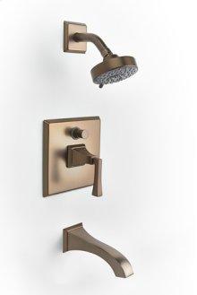 Leyden Pressure-balance Tub and Shower Set Trim with Lever Handle - Bronze