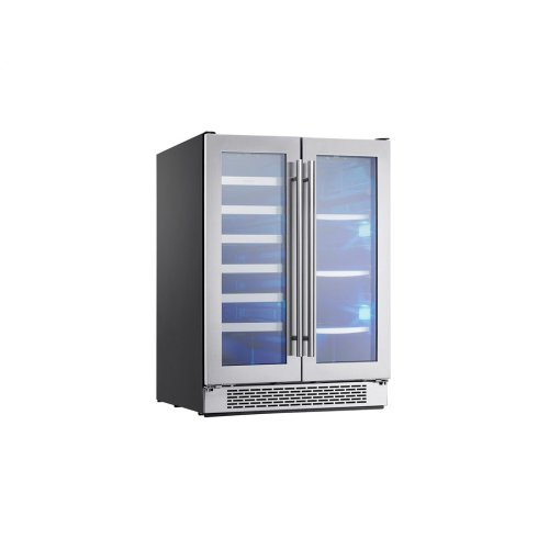 "24"" Dual Zone French Door Wine & Beverage Cooler"