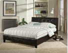 Rochester Queen Size Pleated Black Upholstered Bed Product Image