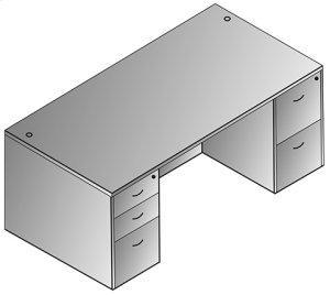 "Napa Double Pedestal Desk 71""x35"""