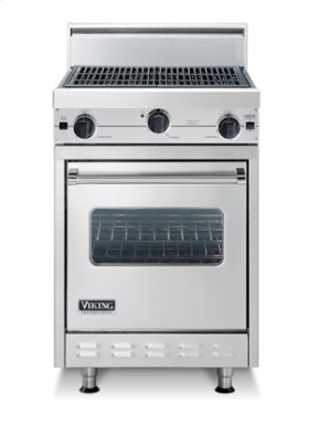 """Almond 24"""" Char-Grill Companion Range - VGIC (24"""" wide range with char-grill, single oven)"""