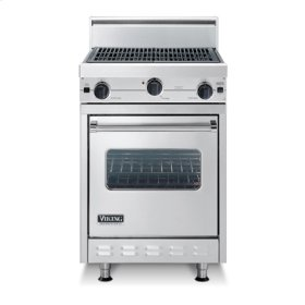 """Forest Green 24"""" Char-Grill Companion Range - VGIC (24"""" wide range with char-grill, single oven)"""