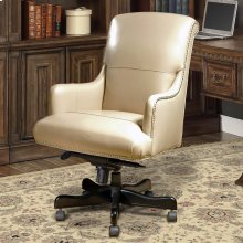 DC#106 Biscuit Leather Desk Chair