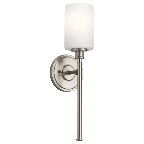Joelson 1 Light Wall Sconce with LED Bulb Brushed Nickel