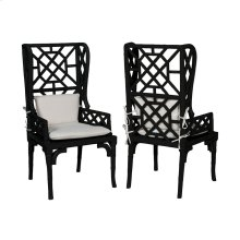 Set of 2  Bamboo Wing Back Chair