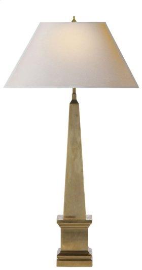 Visual Comfort AH3049NB-NP Alexa Hampton Vivien 28 inch 40 watt Natural Brass Decorative Table Lamp Portable Light