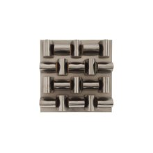 Arete Wall Tile, Plated Black Nickel Finish