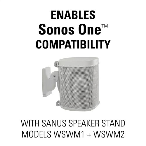 White Sonos One Compatible Adapter Bracket for the SANUS Wireless Speaker Wall Mount