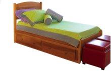 Dover Bed, 2 Position Ply Side Rails, Wooden Slats