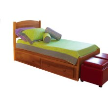 Dover Bed, 2 Position Ply Side Rails, Wooden Slats