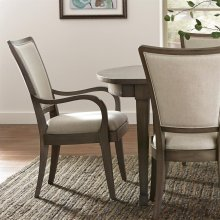 Vogue - Upholstered Arm Chair - Gray Wash Finish