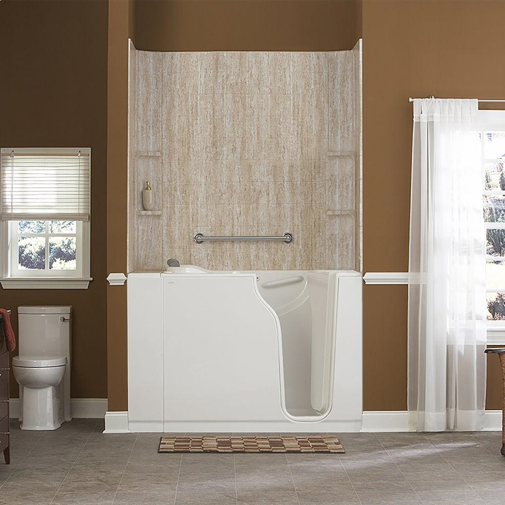 Gelcoat Premium Series 30x52 Inch Walk In Bathtub With Whirlpool Massage  System American Standard