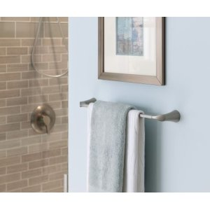 "Danika brushed nickel 24"" towel bar"