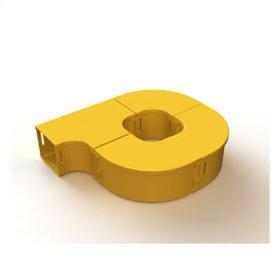 "Mighty Mo Fiber Raceway, Fiber Storage loop, offset, 2"" x 2"", yellow"