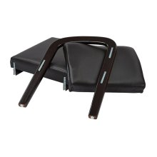 Espresso Finish Modular Single Add-on Kit (black Faux Leather)