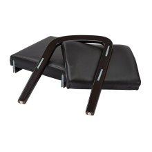 Espresso Finish Modular Single Add-on Kit (black Faux Leather)