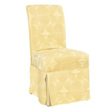 """Zest Yellow Circle Skirted """"Slip Over"""" Slipcover - 6 pcs in 1 carton (Fits 741-440 Chair. Chair not included.)"""