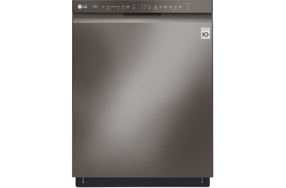 lg black stainless steel series front control dishwasher