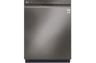 LG Black Stainless Steel Series Front Control Dishwasher with QuadWash® and EasyRack Plus Product Image