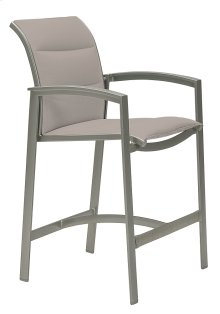 Elance Padded Sling Stationary Bar Stool