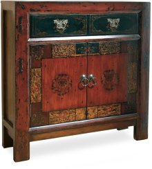Asian Two-Door/One-Drawer Hall Chest