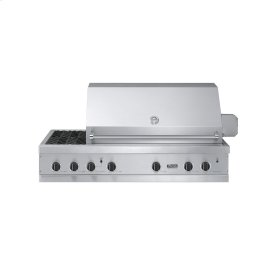 """Stainless Steel 53"""" Ultra-Premium E-Series Grill with Side Burners - VGBQ (53""""W. E-Series with three standard 29,000 BTU stainless steel burners and side burners (Natural Gas))"""