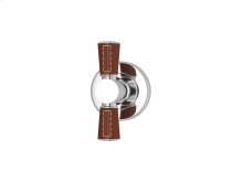Tube Stitch Out Combination Leather In Chestnut And Bright Chrome