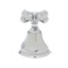 Polished Nickel Palladian Exposed Thermostatic Valve With Cross Handle