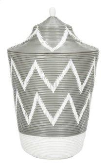 Reina Rattan Jar Basket - Grey / Natural