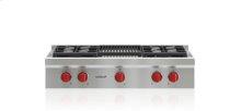 "36"" Sealed Burner Rangetop - 4 Burners and Infrared Charbroiler"