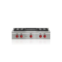 "36"" Sealed Burner Rangetop - 4 Burners and Infrared Charbroiler"