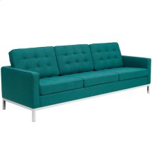 Loft Upholstered Fabric Sofa in Teal