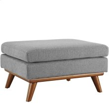 Engage Upholstered Fabric Ottoman in Expectation Gray