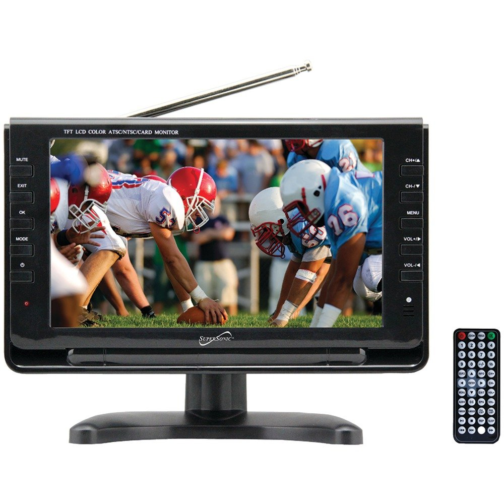 """9"""" TFT Portable Digital LCD TV, AC/DC Compatible with RV/Boat"""