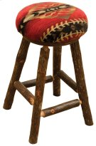 "Round Counter Stool - 24"" high - Natural Hickory - Standard Fabric Product Image"