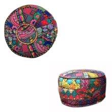 Fabric Pouf Ottoman