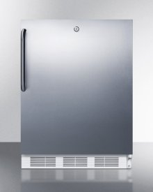 Built-in Undercounter ADA Compliant Refrigerator-freezer for General Purpose Use, W/dual Evaporator Cooling, Lock, Ss Door, Tb Handle, White Cabinet