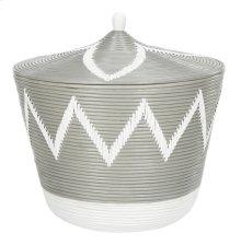 Santori Rattan Jar Basket - Grey / Natural