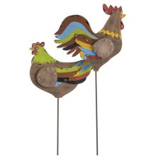 Rooster and Hen Yard Stake (2 asstd)