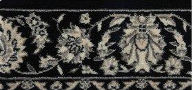 PERSIAN EMPIRE MODERN KASHAN PE218 BLACK-B 9''