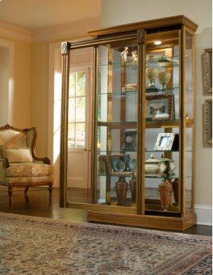 Estate Oak Mirrored Two Way Sliding Door Curio