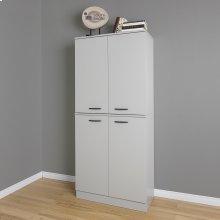 4-Door Armoire - Soft Gray