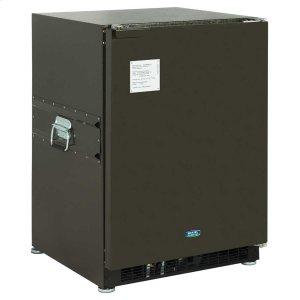Marvel24-In Dual Voltage Refrigerator Freezer with Door Style - Green